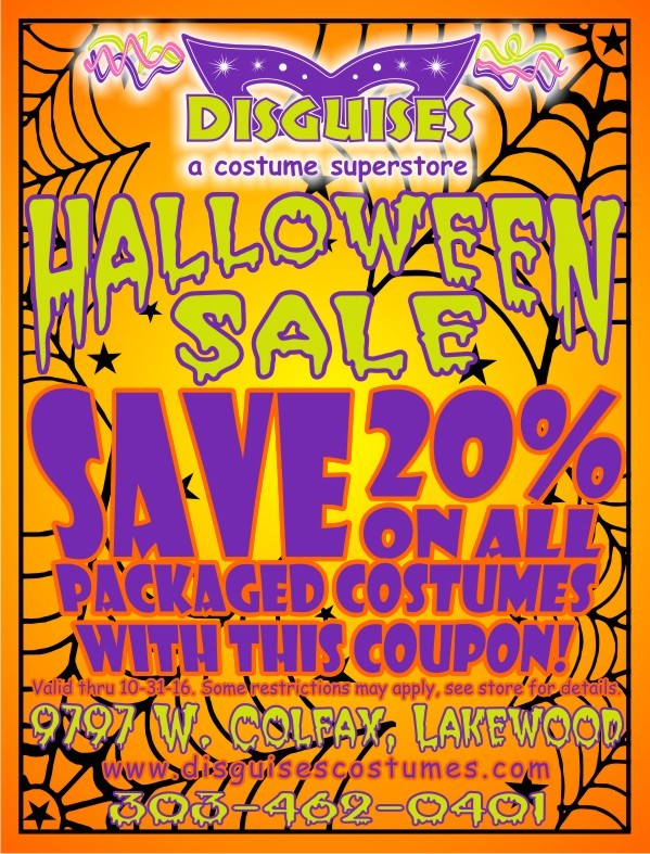 Packaged Costumes 20% Off Coupon
